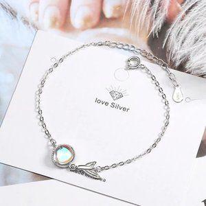 *NEW Sterling Silver Moonstone Mermaid Bracelet